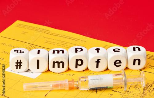 Leinwand Poster Impfen, hashtag impfen
