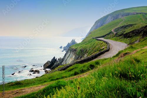 Photo Road along the scenic coast of western Ireland