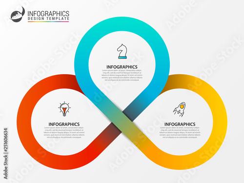 Fotografija Infographic design template. Creative concept with 3 steps