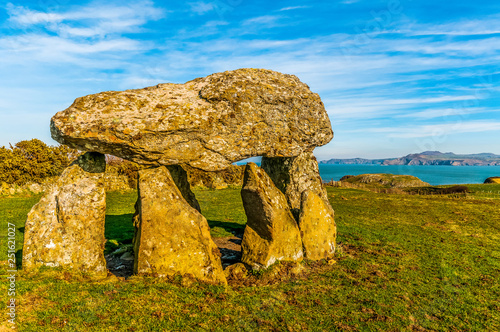 Foto Carreg Sampson  Neolithic Burial Chamber West Wales UK