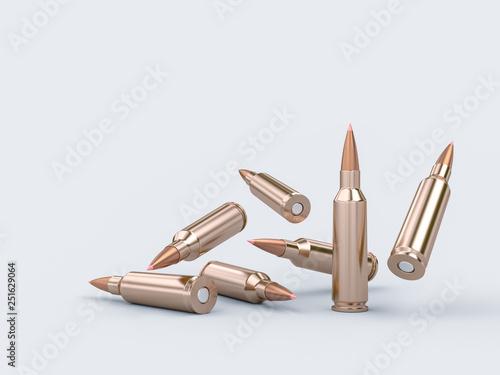 Obraz na płótnie rifle bullet background