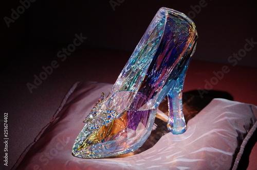 Fotografiet purple shoe from the glass
