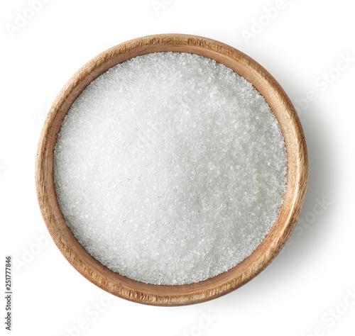 Fototapeta wooden bowl of sugar