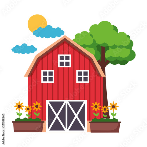 barn farm fresh Fotobehang