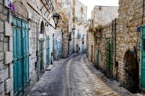 Street in Old City of BETHLEHEM, PALESTINIAN TERRITORIES Fototapete