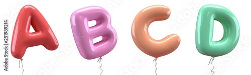 Fotografie, Obraz Brilliant balloons font