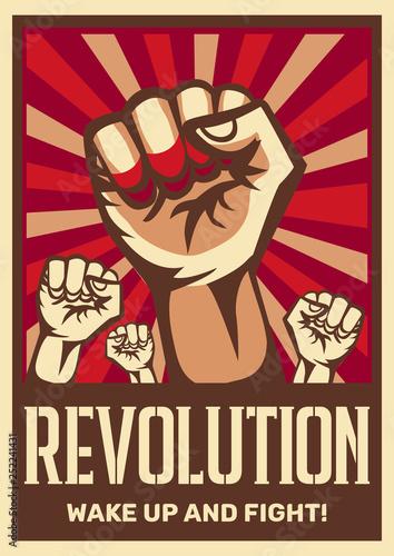 Obraz na plátně Revolution Propaganda Poster