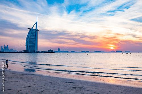 Photo DUBAI, UAE - FEBRUARY 2018 :The world's first seven stars luxury hotel Burj Al A