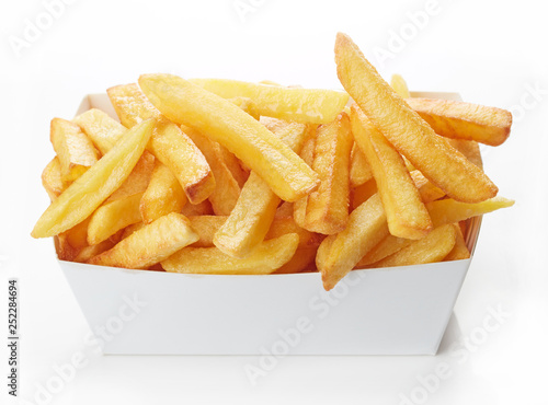 Canvas Print French fries isolated on white background