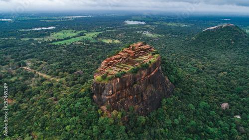Canvas Print The historical Sigiriya lion rock fortress is sri lanka