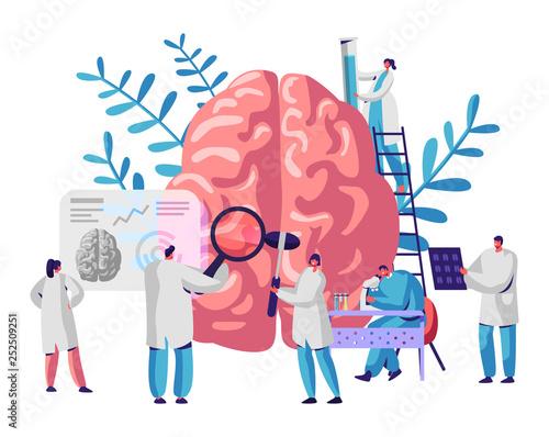 Fotografia Laboratory Scientist Group Study Human Brain and Psychology