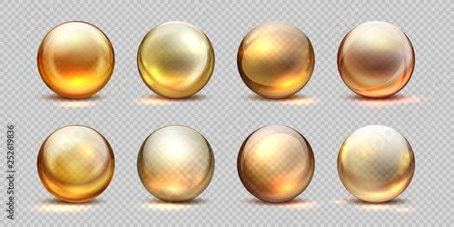 Wallpaper Mural Collagen golden balls