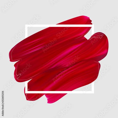Valokuvatapetti Pink vector lipstick smear