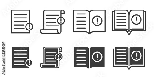 Foto Guide booklet and user guidance reference icons