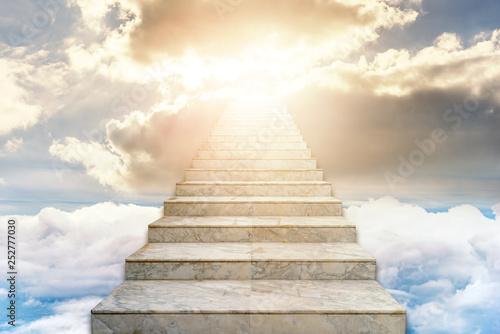 Fotografie, Tablou Stairway to heaven. Concept Religion background