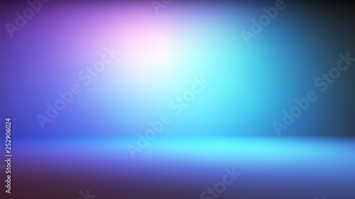 Fotografía Colorful neon gradient studio backdrop with empty space for your content