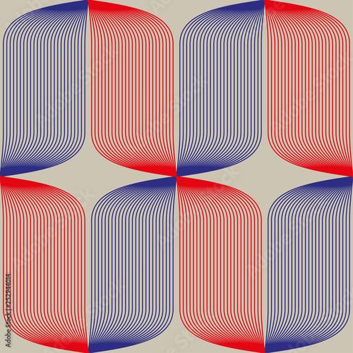 Fotografie, Obraz Seamless abstract pattern in constructivism soviet style