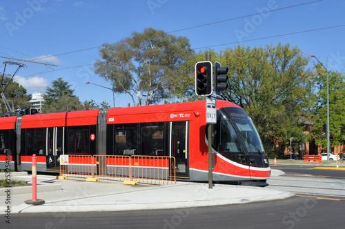 Light rail in Canberra.Australia Capital Territory Fototapeta