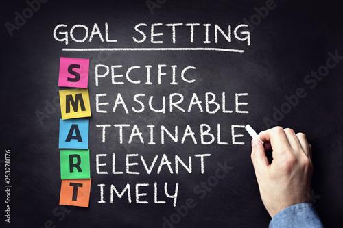 Fotografie, Tablou Smart business goal setting concept