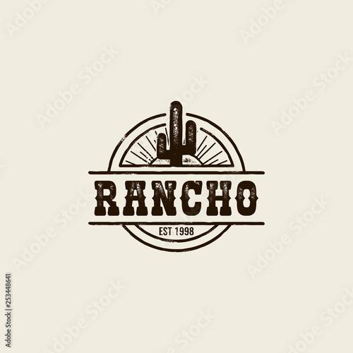 ranch cactus logo Fototapeta