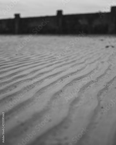 Photo sandy beach at lowtide