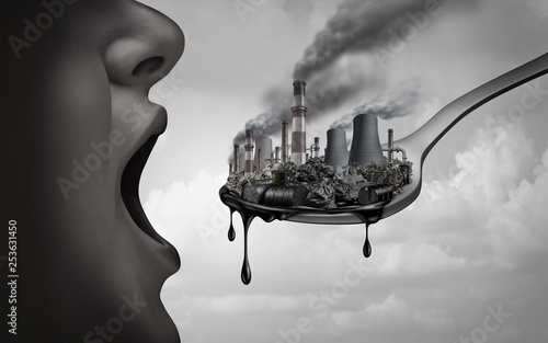 Canvas-taulu Concept Of Pollution