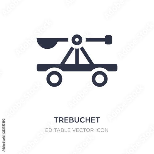 Stampa su Tela trebuchet icon on white background
