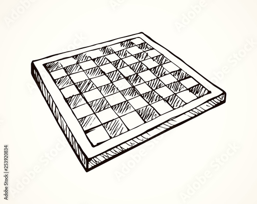 Fotomural Chess board. Vector drawing