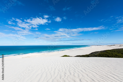 Obraz na plátně De hoop nature reserve white dunes and crystal clear waters of the Indian ocean