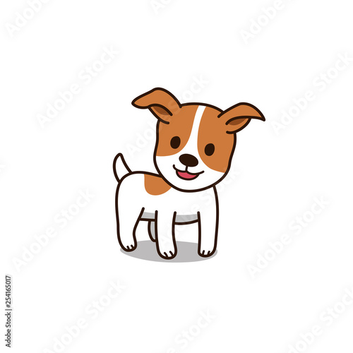 Obraz na płótnie Cartoon character cute jack russell terrier dog for design.