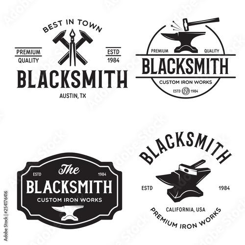 Blacksmith labels set Fototapeta