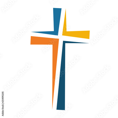 Fotografia Christian cross icon. Vector illustration.