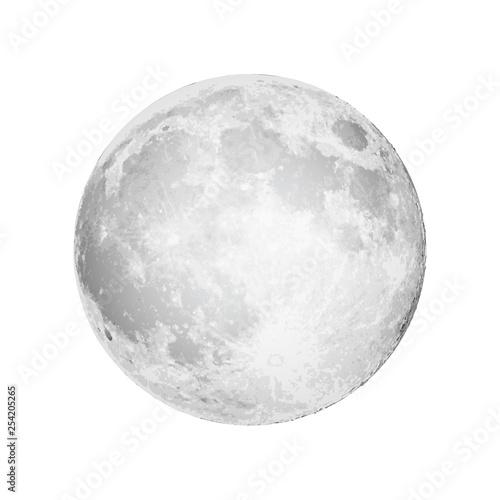 Fotografiet Realistic full moon