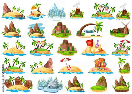 Fotografia, Obraz Set of different island
