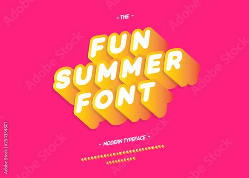 Billede på lærred Vector fun summer font