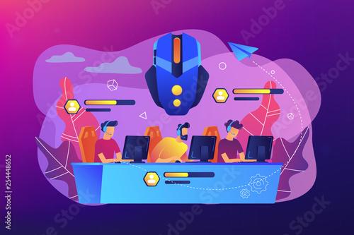 Fotografie, Obraz Multiplayer online battle arena concept vector illustration.