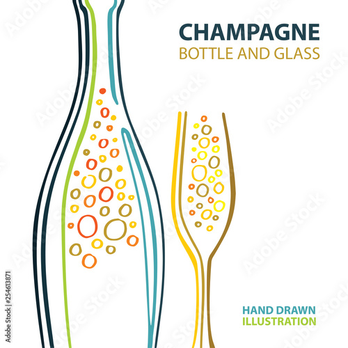 Wallpaper Mural Champagne