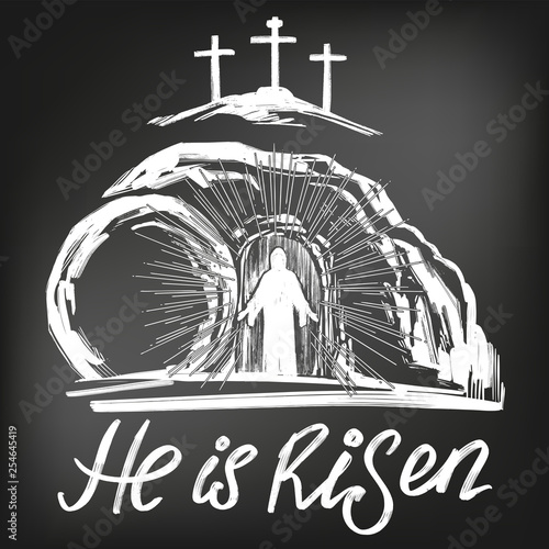 Fotografia Easter Jesus Christ rose from the dead