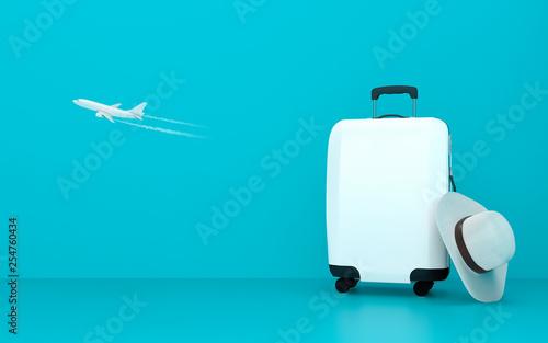 Wallpaper Mural Travel suitcase summer concept