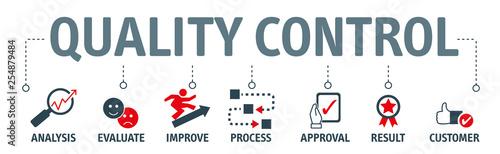 Foto Quality Control Concept - Vector Illustration