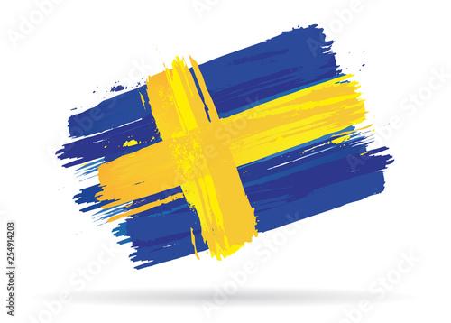 Wallpaper Mural drapeau de la Suède