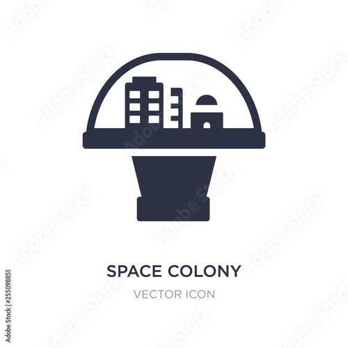 Tableau sur Toile space colony icon on white background