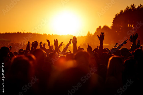 Fotografie, Obraz People celebrating on an summer open air.
