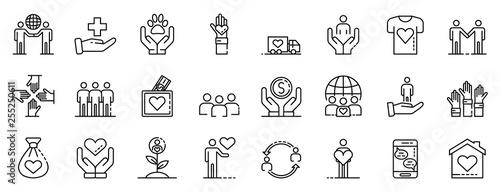 Photo Volunteering icons set