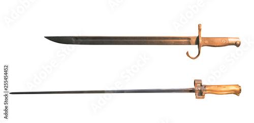 bayonet knife isolated on white background Fotobehang