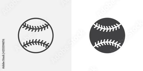 Canvas Print Baseball ball icon