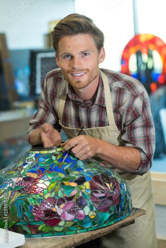 Wallpaper Mural murano glass worker