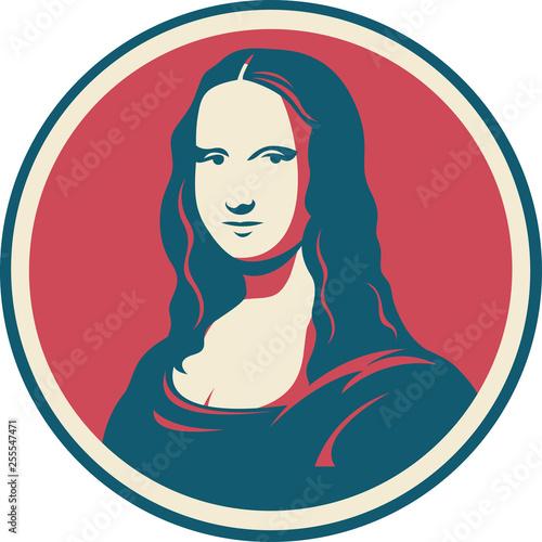 Wallpaper Mural Mona Lisa Leonardo da Vinci painting symbol