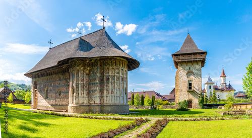 Fotografie, Obraz Gura Humorului orthodox monastery, Moldavia, Bucovina, Romania