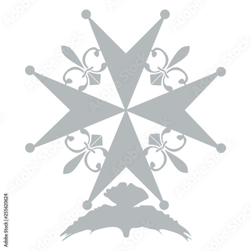 Obraz na płótnie Huguenot Cross as a symbol of evangelical Reformed Church in France